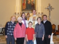 Three generations of Neppel family, CO Chapter, celebrate Mass with Fr. Mark